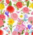colorful floral design on white background vector image vector image