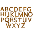 Wooden letters of the alphabet vector image vector image