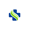 medic cross sign hospital logo vector image