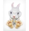 Cute white rabbit icon vector image