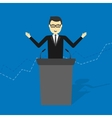 businessman talking on podium vector image