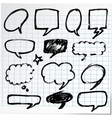Collection of hand-drawn black pen on paper vector image