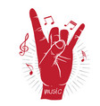 music i love you language hand sign background vec vector image