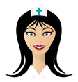 Pretty nurse face vector image