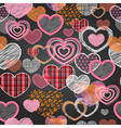 Seamless pattern of valentine love hearts vector image