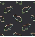 Seamless pattern with colorful cat vector image