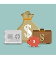 set save the money icon design vector image