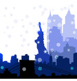 Christmas New York silhouettes vector image vector image