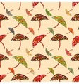 Abstract umbrellas seamless pattern background vector image