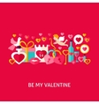 Be My Valentine Greeting Concept vector image