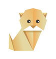 cute origami dog vector image vector image