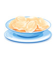 plate with ukrainian national dish varenyky vector image