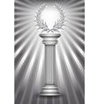 Column laurel silver vector image