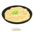 udon icon cartoon style vector image