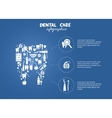 Dental care simple infographics vector image