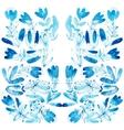 Blue watercolor flowers edging vector image
