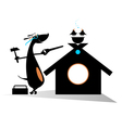 Dog a builder vector image