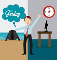 Friday Celebration design vector image