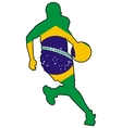 basketball colors of Brazil vector image