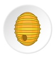 Beehive icon cartoon style vector image