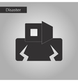 black and white style icon disaster earthquake vector image