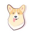 dog emoticon sly puppy icon vector image