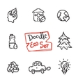 doodle style eco set Cute hand drawn vector image