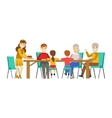 Happy Family Having Good Time Together Gathering vector image