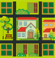map design with houses and farmyards vector image