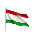 national flag of tajikistan republic vector image