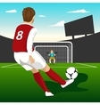 Soccer player taking penalty kick vector image