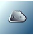 steel 3d cloud Data storage vector image