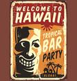 welcome to hawaii vector image