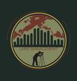 logo land management vector image