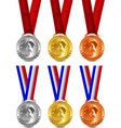 winner medals vector image