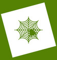spider on web   white icon vector image