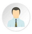 man in business suit as user icon circle vector image vector image