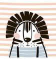 cute cartoon tiger in scandinavian style childish vector image