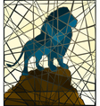 Mosaic lion vector image