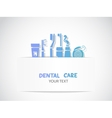 Background with dental care symbols vector image vector image