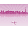 Tokyo V2 skyline in purple radiant orchid vector image vector image