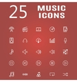 25 line icon set vector image
