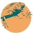 iguana vector image