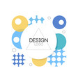 abctract design logo element for brand company vector image