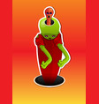alien creature vector image