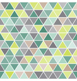 Geometric seamless pattern with triangles vector image