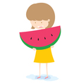 Girl With Watermelon vector image
