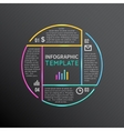 Infographic report template with line vector image