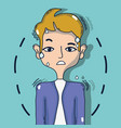 man with otitis inflammation problem tratment vector image