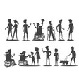 people with disabilities require special attention vector image